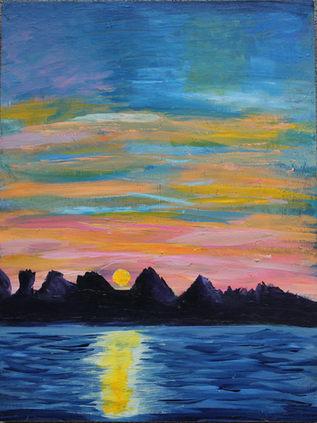 Colorful Peaceful Night Sky
