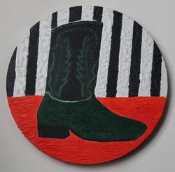 green cowboy boots