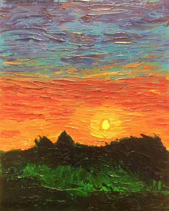 Textured Rainbow Sunset