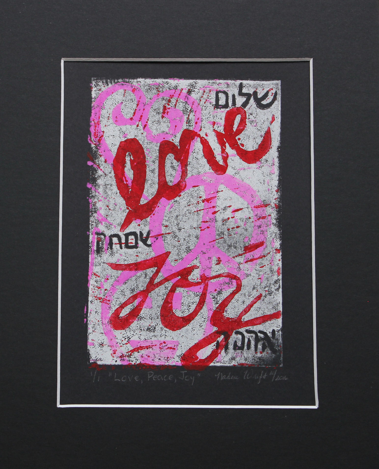 pink Love, Peace, Joy