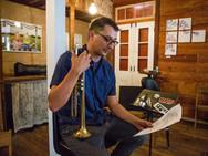 Recording Session at The Tigermen Den