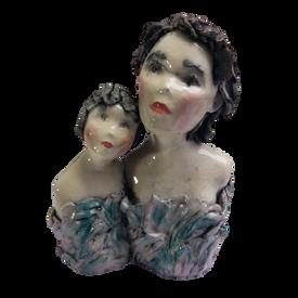 125€ : Mère fille raku