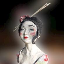 geisha 2 baguettes. vendue