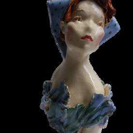 85€ : Petit buste bleu