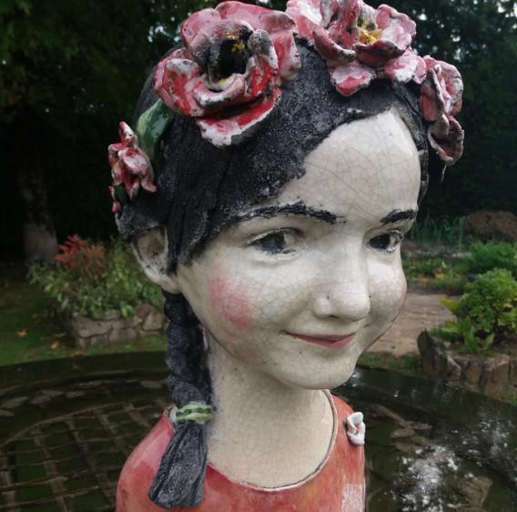 La couronne de fleurs Hauteur 38cm .jpg