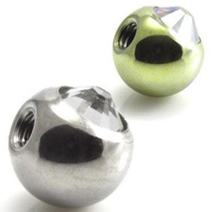 Ti Forward Facing Gem Balls - 6mm
