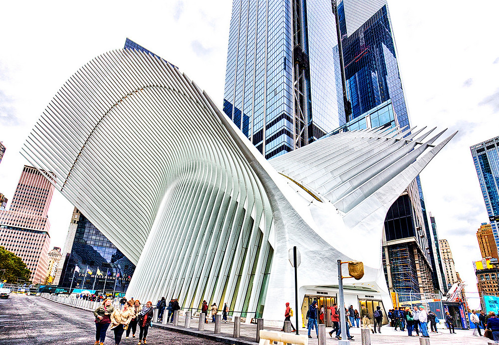 The Oculus at the World Trade Center Transportation Hub; also the result of the differing skill sets of architects and builders