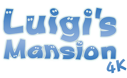Luigi's Mansion 4K hd texture pack logo