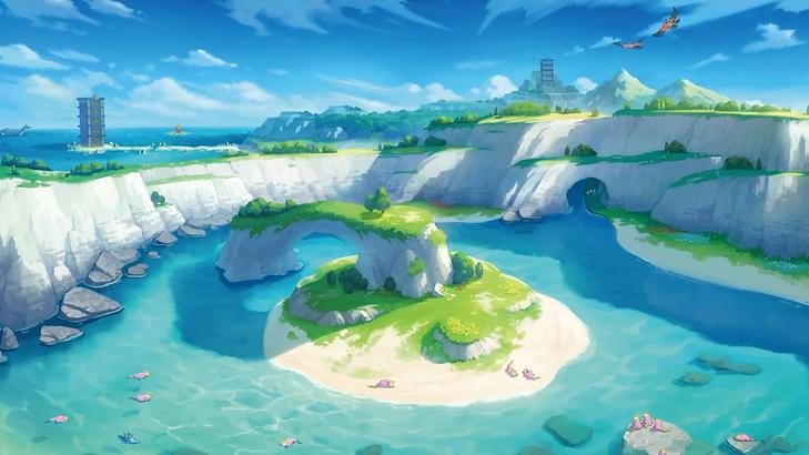 Pokémon ocean mountain high quality wallpaper.png