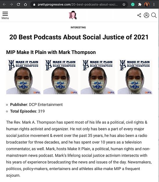 MIP Press 20 Top Podcast list