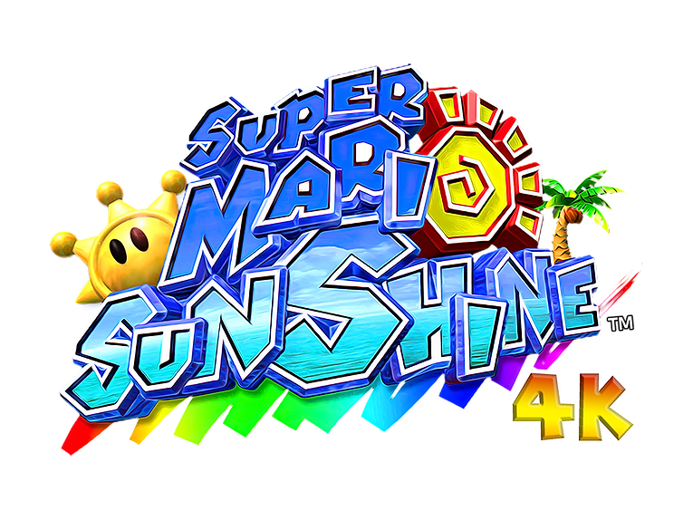 super mario sunshine 4K texture pack log