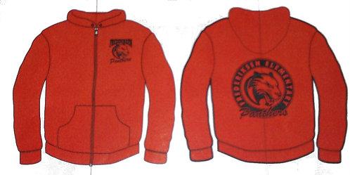 YOUTH Red Zip Hoodie Sweatshirt