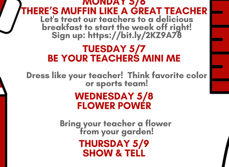 Teacher Appreciation Week is May 6-10