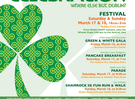 City of Dublin St. Patrick's Day Parade is on Saturday, March 17th at 9:30am