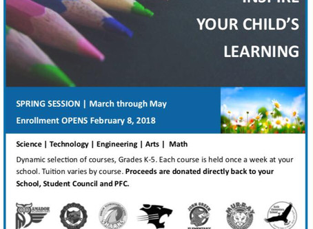 STEAM Afternoon Programs - Enrollment Now Open