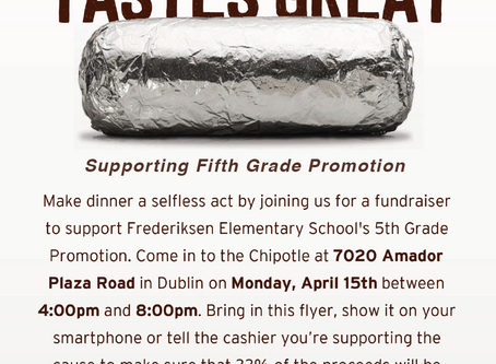Support 5th Grade Promotion at Chipotle