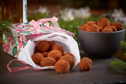 Spiselige julegaver konfekt-matfotog