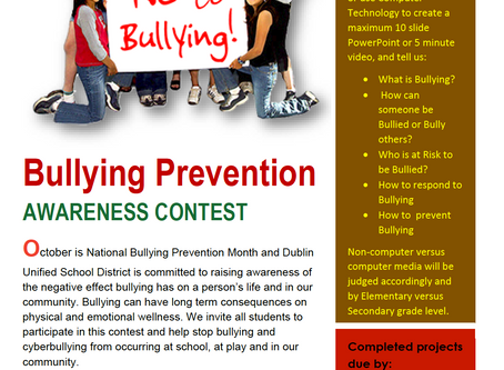 Bullying Prevention Awareness Contest Begins
