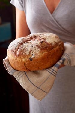 Brød i håndkle-matfotograf