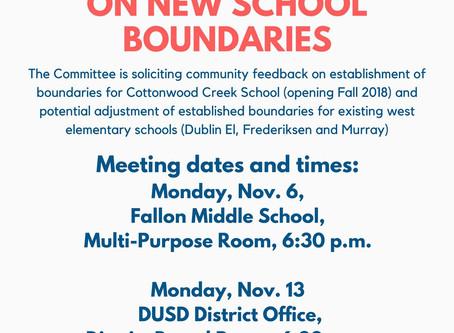 Community Meetings on New School Boundaries