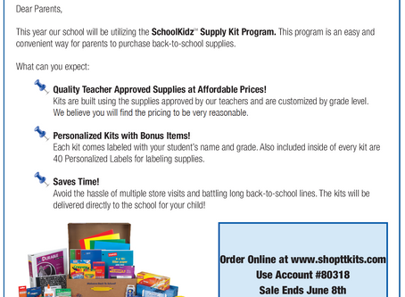 SchoolKidz School Supply Kits - Order until June 8th