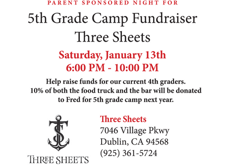 Fundraiser for 5th Grade Camp Next Year