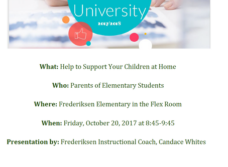 Parent University: Help to Support Your Children at Home