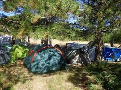 Camping derrière le Mas