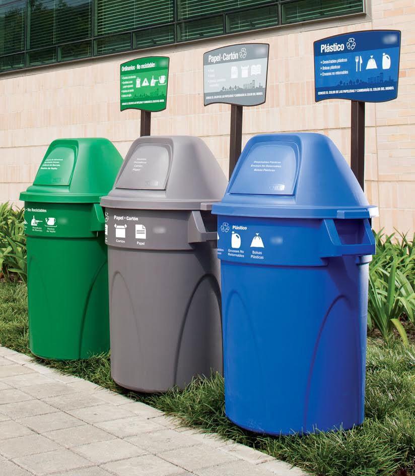 Basureros de reciclaje plástico