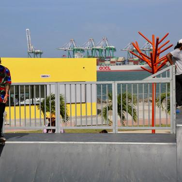 Skatepark - pista de patinaje en Paseo Marino Colon Panama
