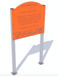 letrero para parques infantiles panama galvanizados