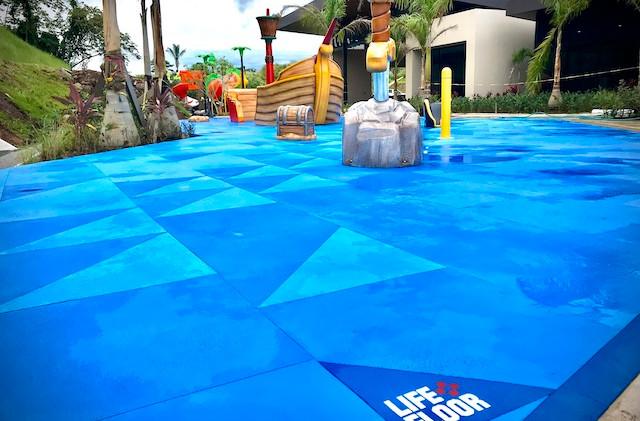Zona Splash con Life Floor en Panama