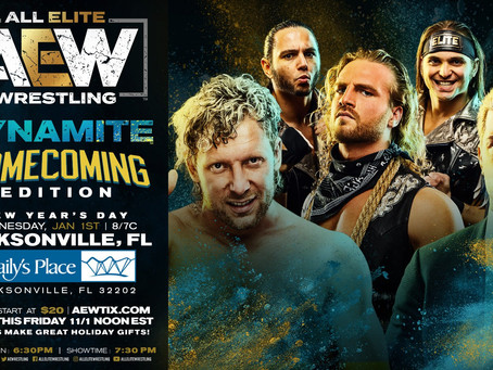 AEW Dynamite Comes To Jacksonville On New Years Day!