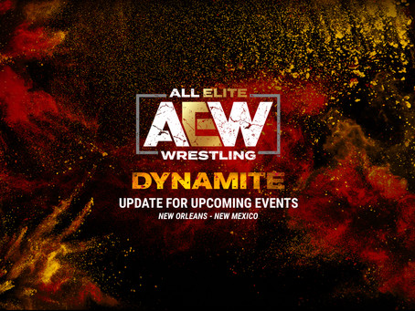 Update for Upcoming AEW Dynamite Shows
