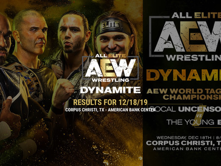 AEW DYNAMITE Results December 18, 2019
