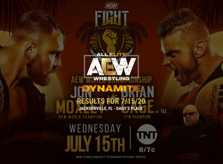 AEW DYNAMITE Fight For The Fallen Results for July 15, 2020
