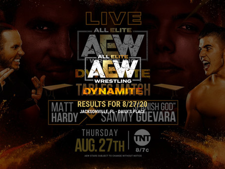 AEW Dynamite Results for August 27, 2020