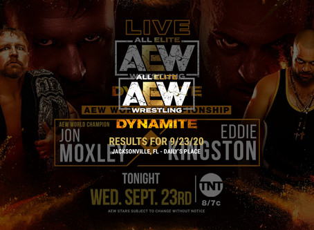 AEW Dynamite Results for September 23, 2020