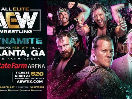 AEW DYNAMITE Comes To Atlanta February 19th. Tickets On-Sale This Friday!