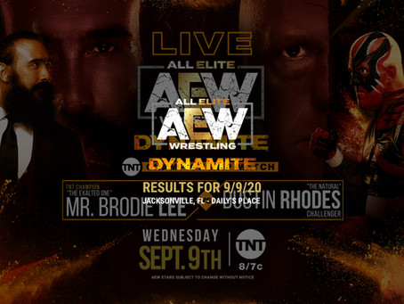 AEW Dynamite Results for September 9, 2020