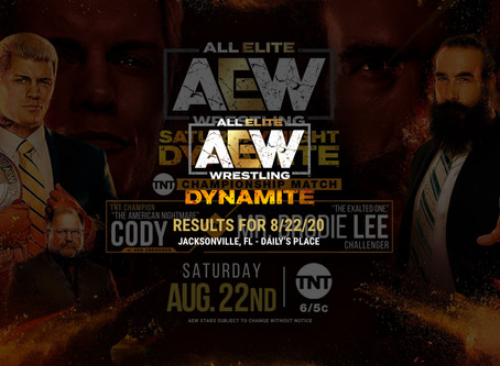 AEW Dynamite Results for August 22, 2020