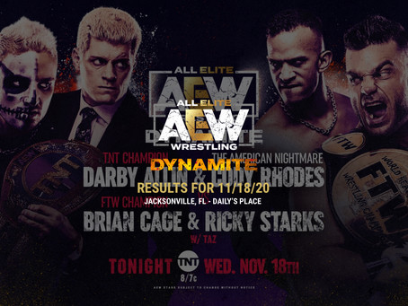 AEW Dynamite Results for November 18, 2020