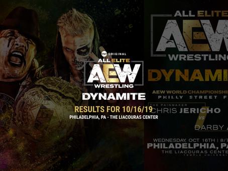 AEW DYNAMITE Results 10/16/19
