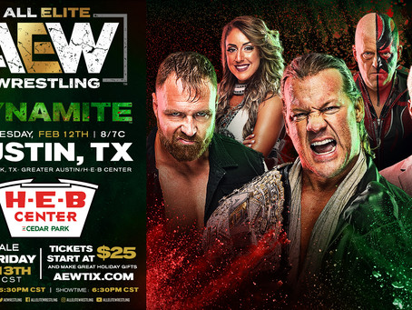AEW DYNAMITE Comes To Austin February 12th. Tickets On-Sale This Friday!