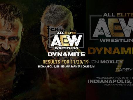 AEW DYNAMITE Results November 20, 2019