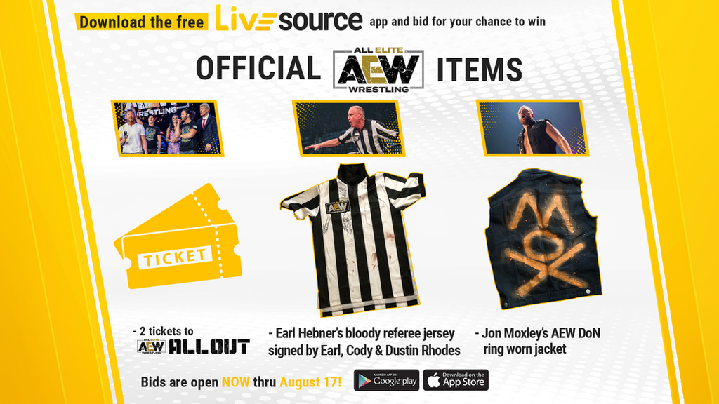 LiveSource Announces AEW Items Available for Limited Offer