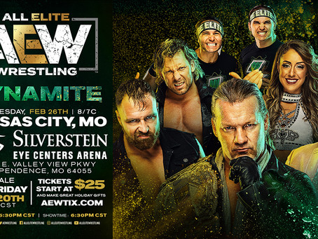 AEW DYNAMITE Comes To Kansas City February 26th. Tickets On-Sale This Friday!