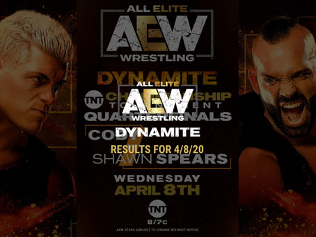 AEW DYNAMITE Results for April 8, 2020