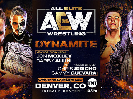 AEW DYNAMITE Preview for March 4th