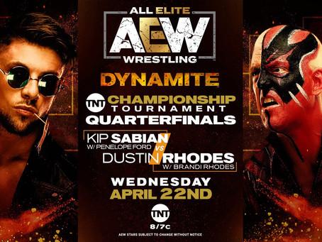 AEW DYNAMITE Preview for April 22, 2020